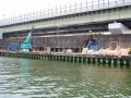神埼川の防潮堤工事5