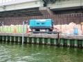 神埼川の防潮堤工事6