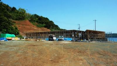 アワビ養殖施設 建設中2