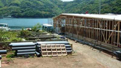 アワビ養殖施設 建設中3