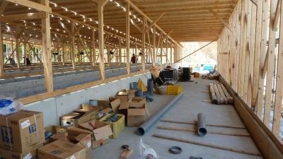 アワビ養殖施設 建設中5