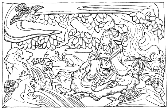 金色姫伝説を表現した側面の彫刻_3