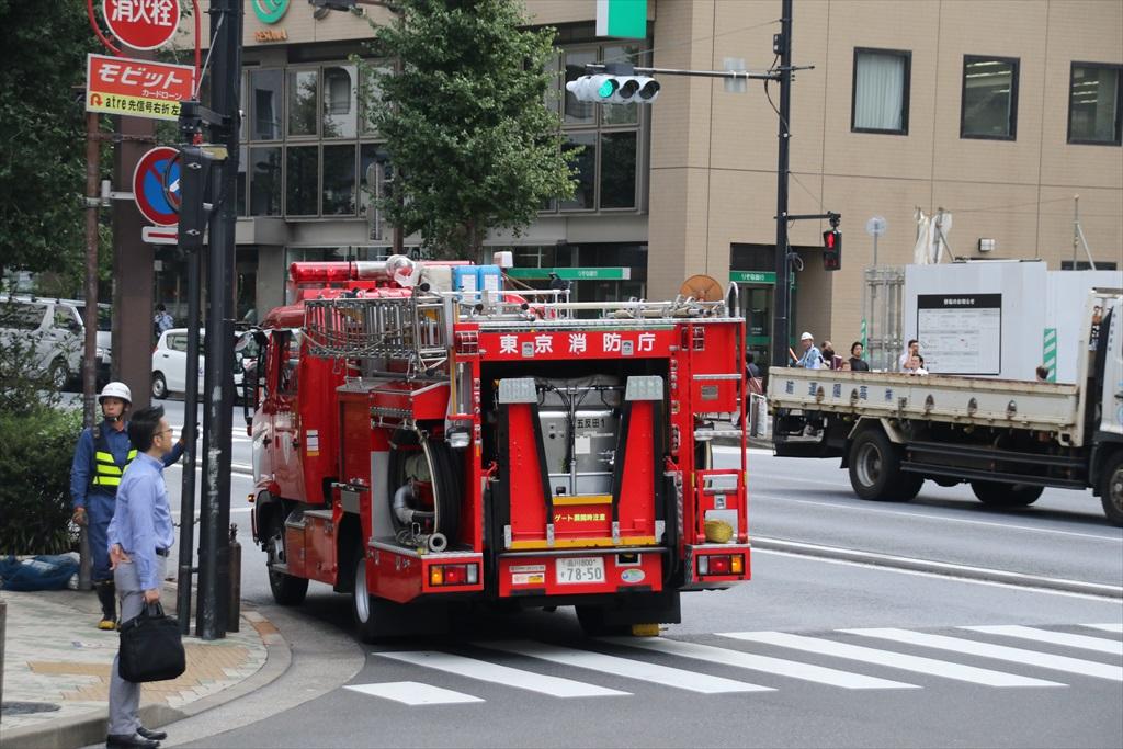 目黒駅に消防車が_6