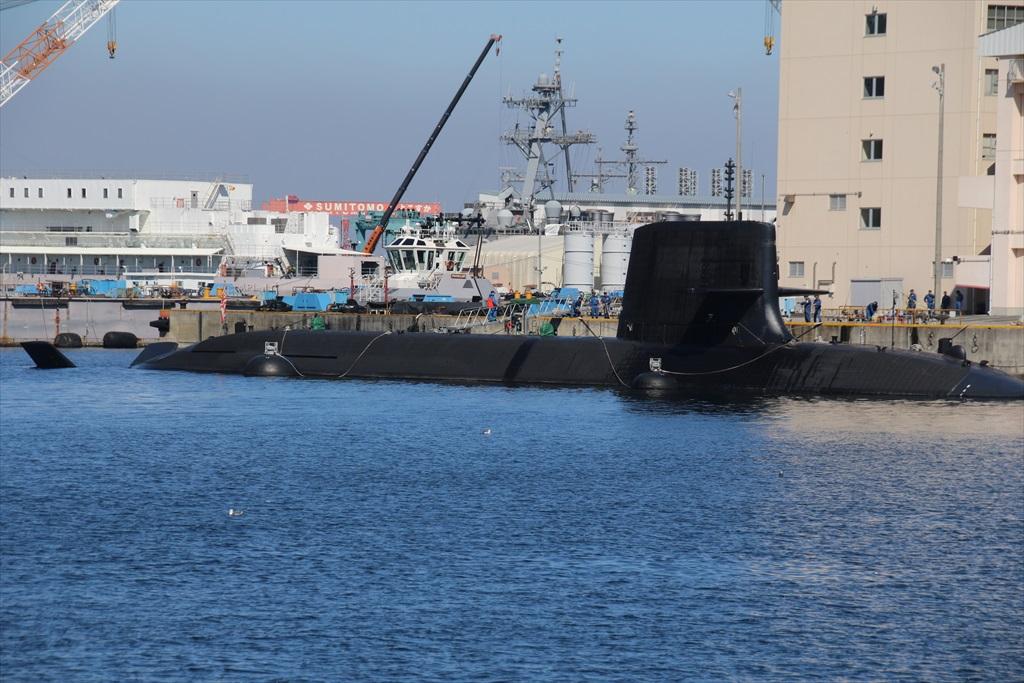米軍基地内だが、海上自衛隊の潜水艦