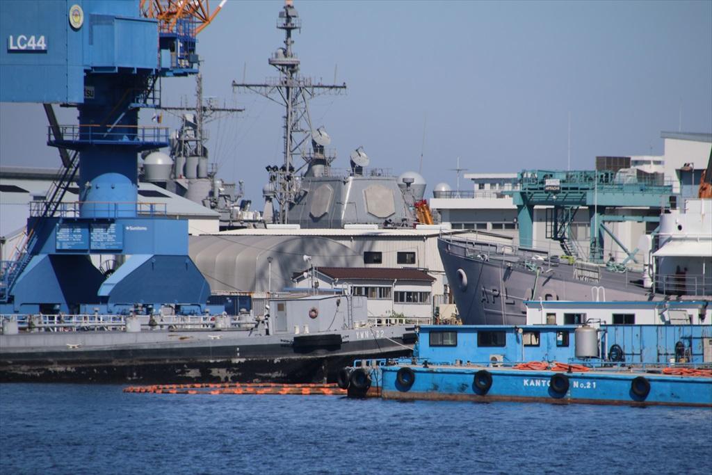 ヴェルニー公園から見えた米軍のイージス艦は1艦のみ
