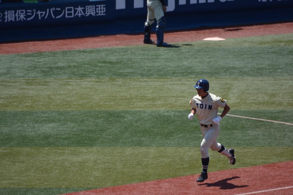 5回裏(慶5-3桐)