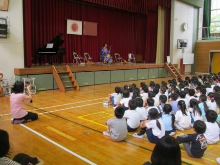 全校の生徒さんが参加しました。