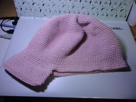 ピンクの帽子①