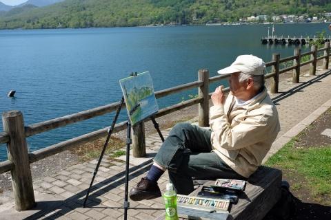 31中禅寺湖畔の画家
