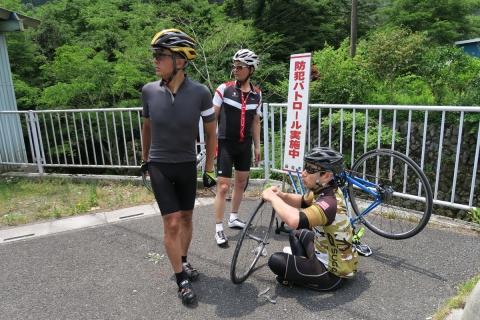 09山伏峠へパンク修理