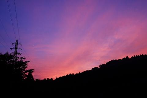 35お玉が池の夕焼け空