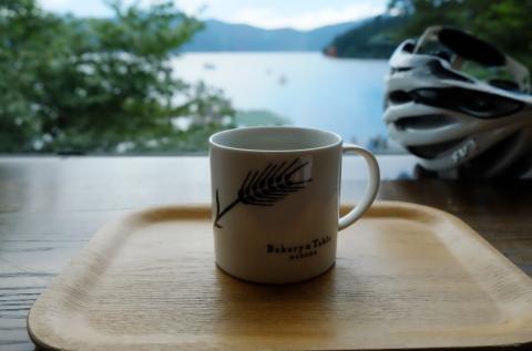 25湖尻でコーヒー