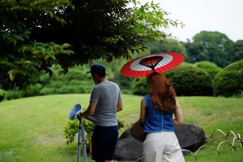10清澄庭園蛇の目傘