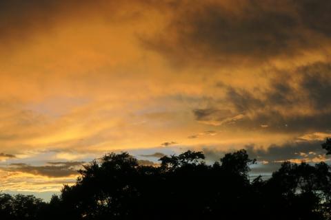 12今日の夕焼け空