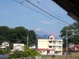 松田駅から見た富士山