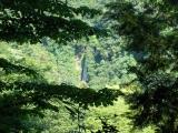 展望台から見た洒水の滝