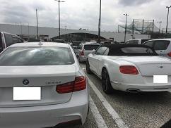 名古屋までの道のりは高級車とのコラボ??!!