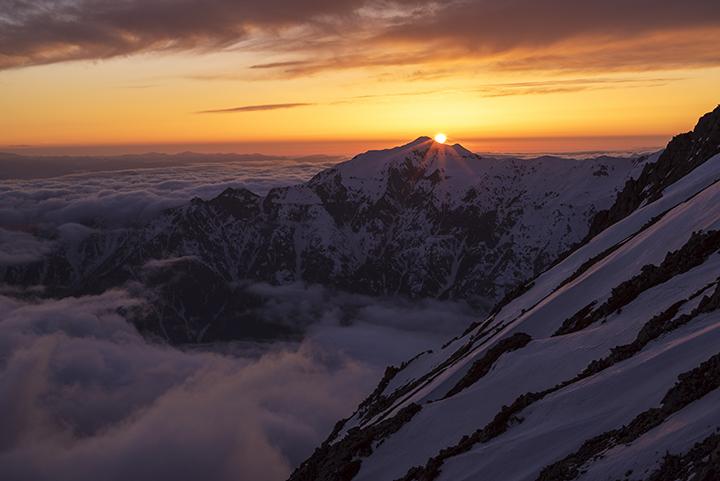 160422 笠と夕陽