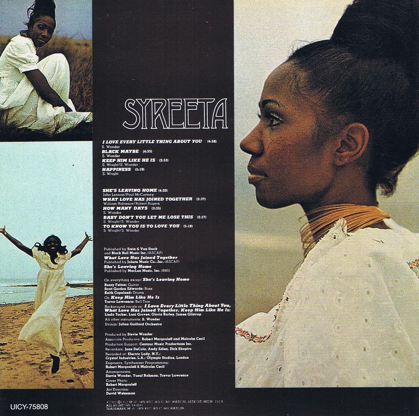 Syreeta back