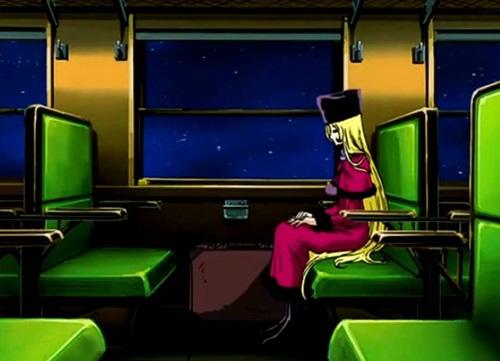銀河鉄道999車窓のメーテル