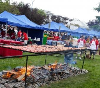 Salmon BBQ at Salmon Festival