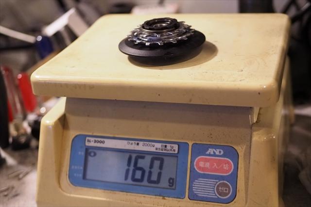 brompton ノーマルフリーボディ 12-16t スプロケカバー 重量