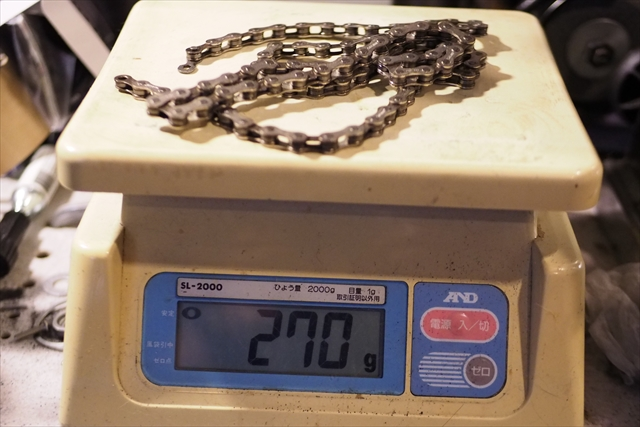 brompton 2速モデル ノーマルチェーン重量