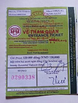 a2ee1d4fa09 チケットを買うと付いてくる地図と案内。 ホイアンのガイドブックってそう無いので、結構、これは重宝しました。 「日本橋」