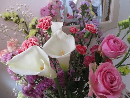 2016年4月教室花・バラ・カラー