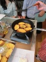 オレンジのフレンチトースト加熱中