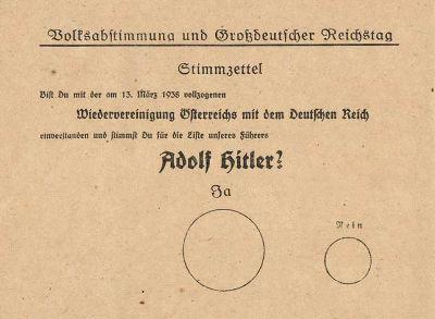 ヒットラーの投票用紙