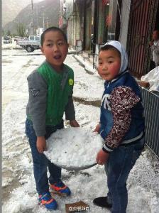 中国甘粛省hailstorm-may-2016-3