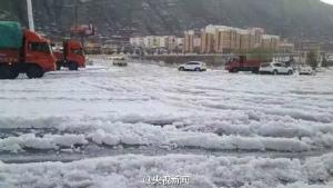 中国甘粛省hailstorm-may-2016-1