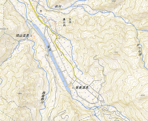 ChzyQ1aUkAASed8糸魚川市側で融雪泥流に脆弱なのはここ。