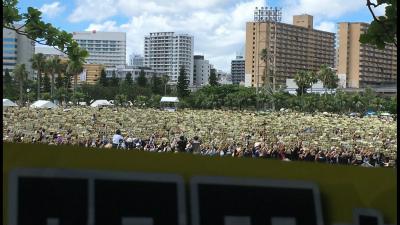 ClS4bUhVYAAz1pA参加者6万5千人と事務局より発表。