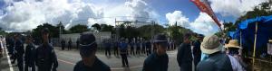 Covv7HaVIAAKN今日の高江N1ゲート前も各都府県の機動隊