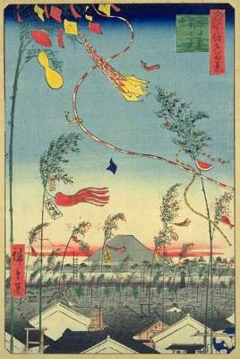 CpbLfdXVMAAjJ歌川広重『市中繁栄七夕祭』
