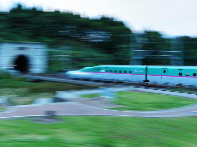 流し撮り新幹線