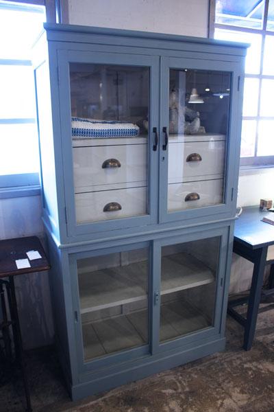 ペイントリメイク ガラスショーケース ディスプレイ棚 店舗向け家具