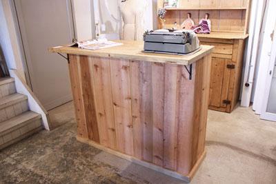 レジカウンター オリジナル家具 店舗向け ナチュラル アンティーク