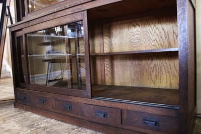 古民家風 水屋タンス レトロ カフェ 店舗用家具 ディスプレイ棚