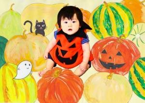 かぼちゃ・お座り赤ちゃん