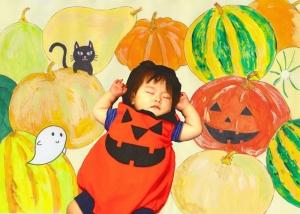 かぼちゃ・お昼寝赤ちゃん