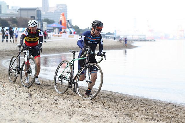 シクロクロス東京 砂浜ラン