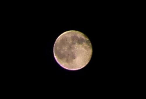 ゼンフォンズーム12倍で月を撮影