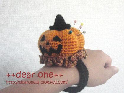 かぼちゃのリストピンクッション160817_3
