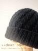 《ツイードで編むあったか帽子》