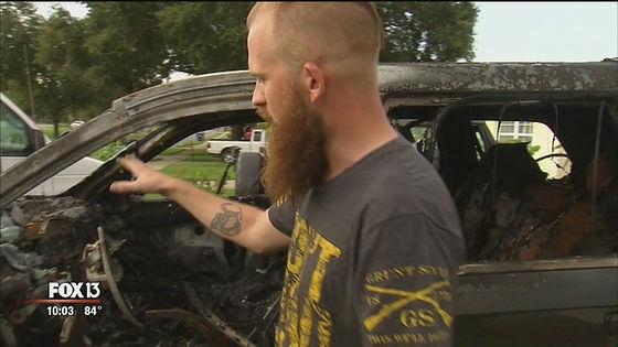 愛車のジープ・グランドチェロキーが全焼してしまったのは、フロリダ州セントピーターズバーグに住むネイサン・ドーナカーさん。