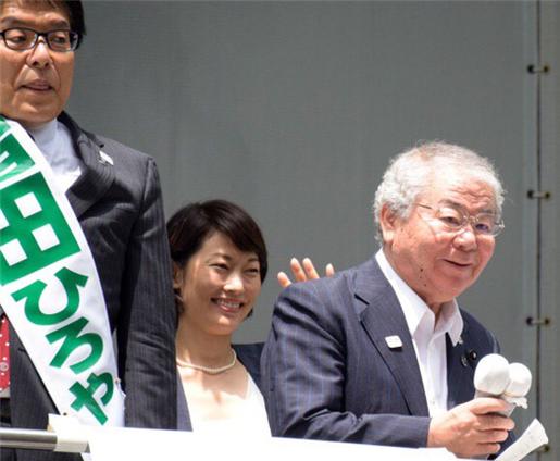 【参考写真】増田寛也の応援演説に駆け付けた都議会のドン内田茂