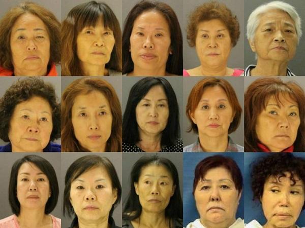 韓国人売春婦15人が大量摘発2016年テキサス州ダラスで15人の韓国人売春婦が大量摘発!50代~70代